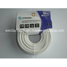 Lowest Price Steren Rj11 30meter Telephone Cable