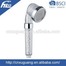 Dia 65mm bathroom faucet accessories plastic abs chrome handheld shower head