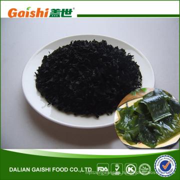 Algas verdes comestibles frescas secadas