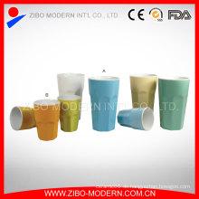 Wholesaletwo-Tone Farbe Keramik Kaffeetasse ohne Griff
