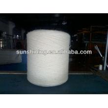 100% 16NM / 3 fios de lã pura branco cru para tapete