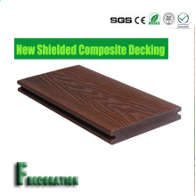 Outdoor Plastic Wood Capped WPC Flooring Composite Decking