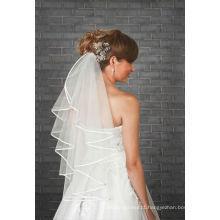 1 Tier Ivory Wedding Bridal Elbow Wedding Satin Edge Veil