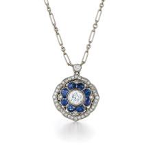 Простые конструкции Blue Diamond 925 Silver Pendants