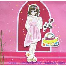 Promotion DIY toys for kids,magnetic dress-up girl games