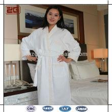 Elegante luxuoso xale colar hotel qualidade da mulher roupão de banho