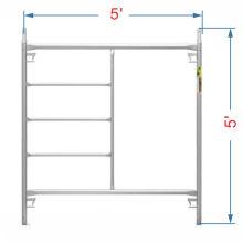 5' by 5' galvanized mason frame scaffolding with Canadia lock