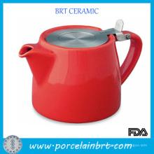 Bule de chá de cerâmica popular quente com infusor de aço inoxidável