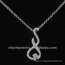 Cubic Zirconia 925 Sterling Silver Pendant PSS-013