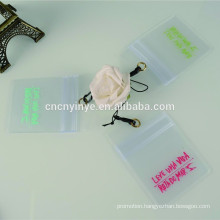 Transparent plastic business card holder