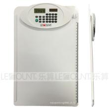 A4 tamanho 8 dígitos Dual Power Clipboard Calculadora com régua (LC632WT)