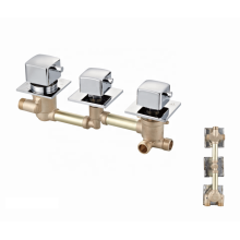 Factory wholesale 3 way bath shower brass thermostatic faucet