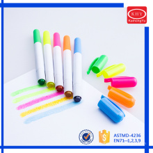 Assorted colors wax material non-toxic children solid highlighter