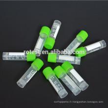 Laboratoire chimique fournit des tubes cryogéniques en laboratoire