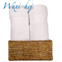 Роскошные чистый белый хлопок Банные полотенца для гостиницы