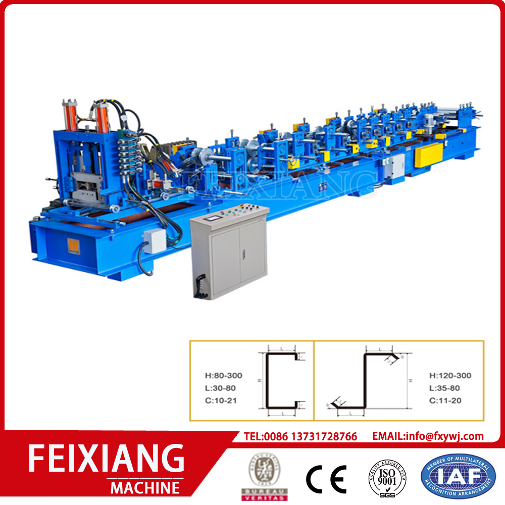 mould punching Z purlin roll forming machine