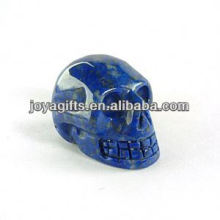 Natural Lapis Lazuli gemstone skull carved ,gemstone carved skull