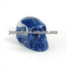 Natural Crânio de pedra preciosa de Lapis Lazuli esculpido, pedra preciosa esculpida crânio