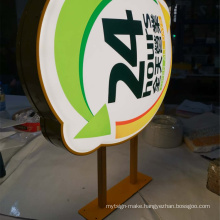 Round Outdoor Acrylic Light Box Open Sign 3D LED Advertising Wall Displays Light Boxes