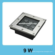 square 9W high power led light underground