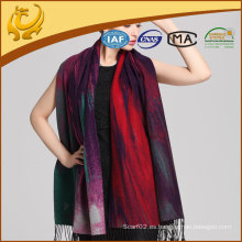 Bufanda de lujo de la señora Pashmina de la sensación de la borla Venta al por mayor
