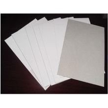 cartón / tablero de papel / tablero dúplex recubierto con fondo gris