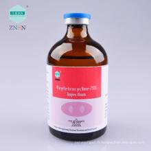 Injection efficace de médecine animale Oxytetracycline 20% Injection