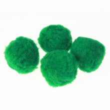 Jumbo Acrylic Pompom ball green assorted