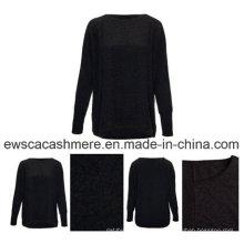 Mezcla de cachemir con suéter de lana mercerizado
