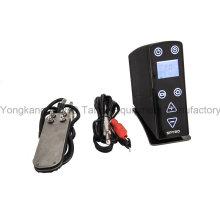 Fonte de alimentação superior da tatuagem do LCD da qualidade para a máquina da tatuagem que inclui o pedal e o cabo do grampo