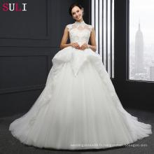 SL-040 Robes de mariée en mousseline de soie Alibaba sur mesure 2017