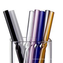 Handmade Borosilicate Straight Glass Straws Bent Glass Drinking Straws Colored