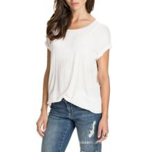 Moda Verão Anjo Asas Casual Top Solto T Shirt