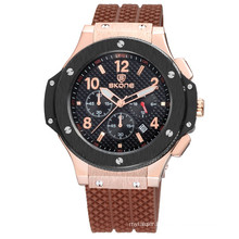 2017 most popular sport style real chronograph private label watch low moq