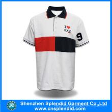 Neuestes Design Hochwertiges Plain Herren Weiß Polo Shirt