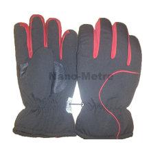NMSAFETY Wirtschaftliche schwarze Faser Skihandschuhe Outdoor-Sporthandschuh