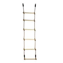 Outdoor Children Double-headed Climbing Wooden Rope Ladder
