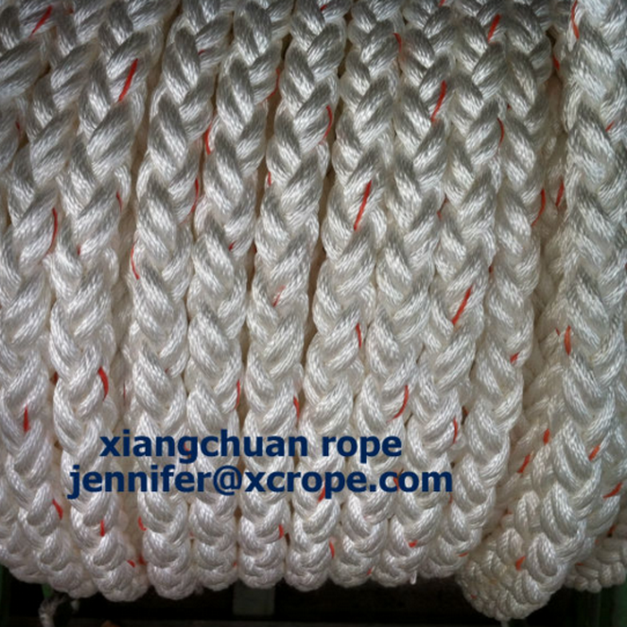 8 Strands Polyester Rope with Orange Labor Line