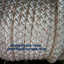 8 Strands Polyester Rope with Orange Labor
