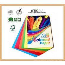 Color colorido papel Wrinting Ppaer con tamaño A4