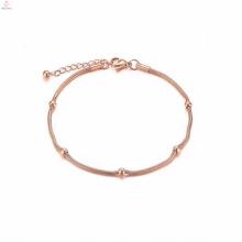 Fantaisie gros bijoux chinois caractère en acier inoxydable charmes bracelet de cheville
