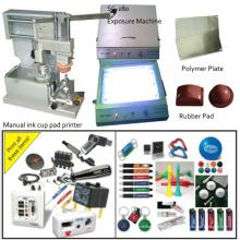 Sola máquina de tampografía de luz de Color a mano