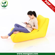 Yellow chesterfield sandwich beanbag, bright color sofa bed