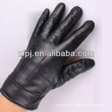 Hommes, jaune, haut, classe, cuir, gants, mode
