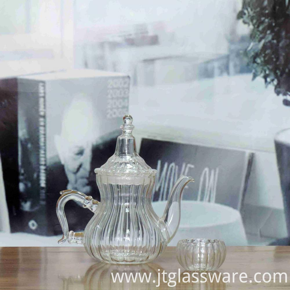 Glass Teapot of heat resistant pumkin shaped