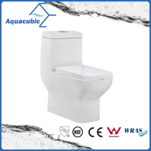 Siphonic One Piece Dual Flush Square Front Bowl Toilet (ACT8825)