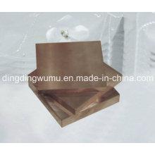 Placa de cobre tungstênio de alta densidade para o empacotamento elétrica do dissipador de calor