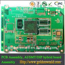 PCB HDI de baja calidad y buena calidad de PCB Weald dorado zhen dorado