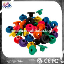 Assorted Color Tattoo Rubber Nipple 100pcs H Tattoo Rubber Grommets