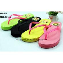 New Design Lady Casual High Heel Flip Flop Slipper (FF68-9)